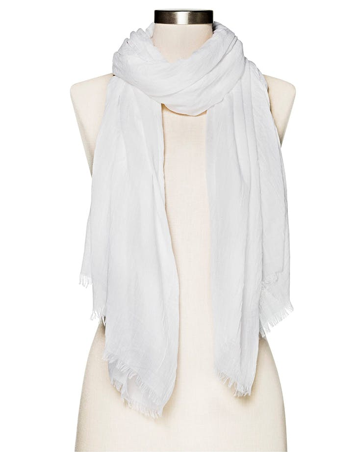 DAL white shopping scarf LIST