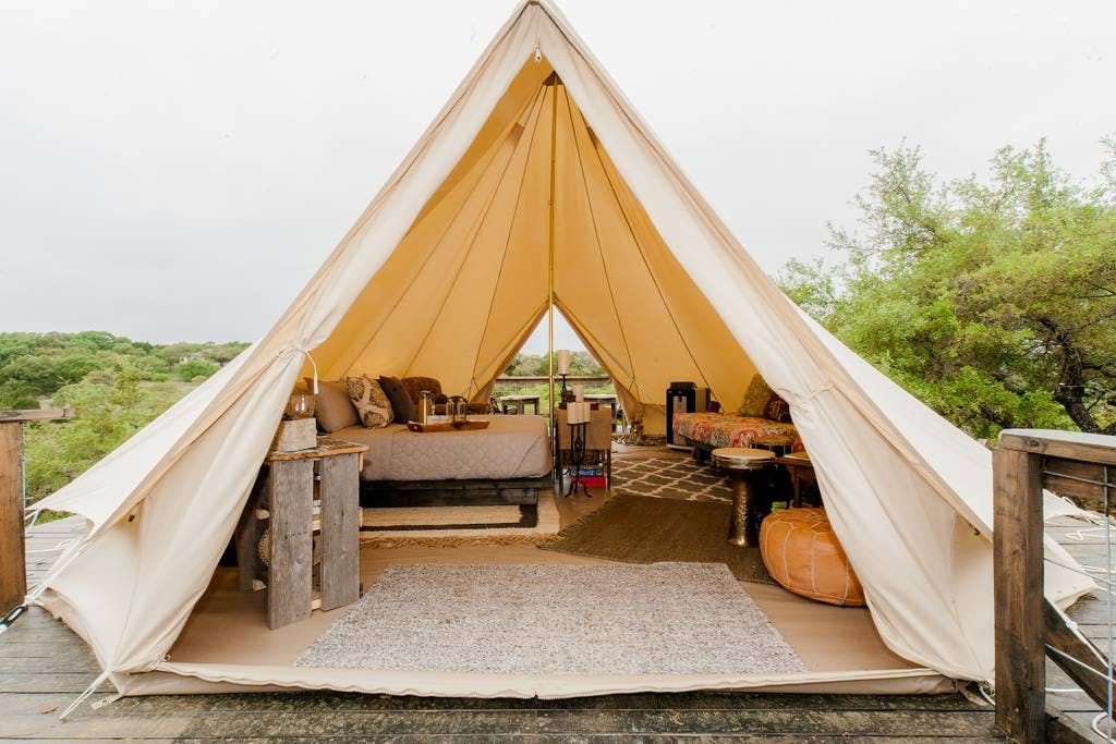 DAL glamping bell tent camping