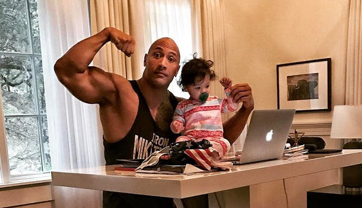 Dwayne Jasmine Johnson Daddy Daughter