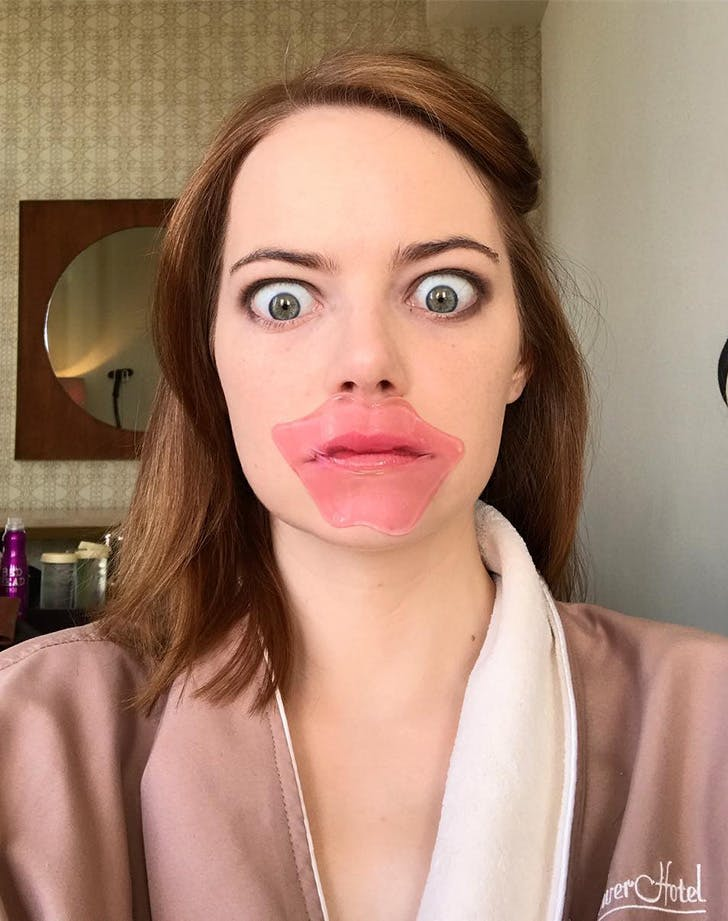 Emma Stone Collagen Lip Mask