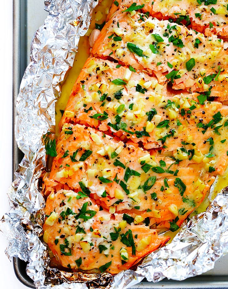 Garlic Lovers Salmon In Foil