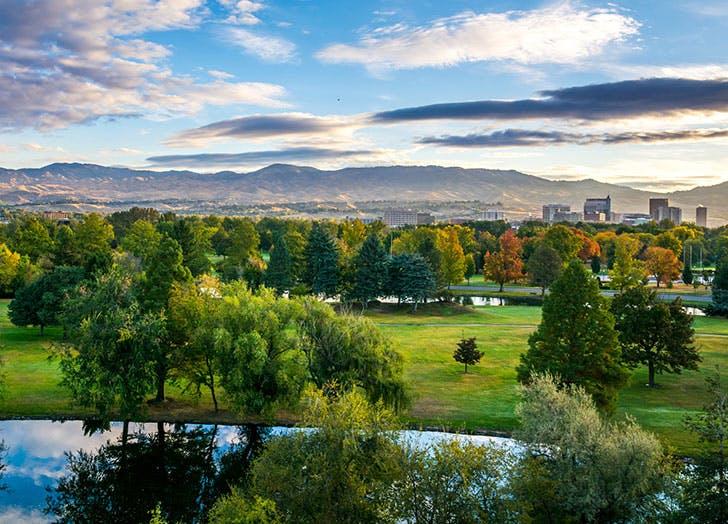Green park in Boise  Idaho
