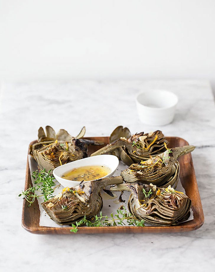 Grilled Artichoke FoodieCrush.com