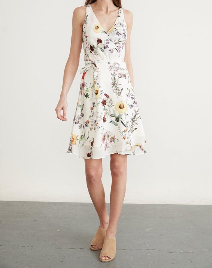 HAMP dresses floral wrap LIST