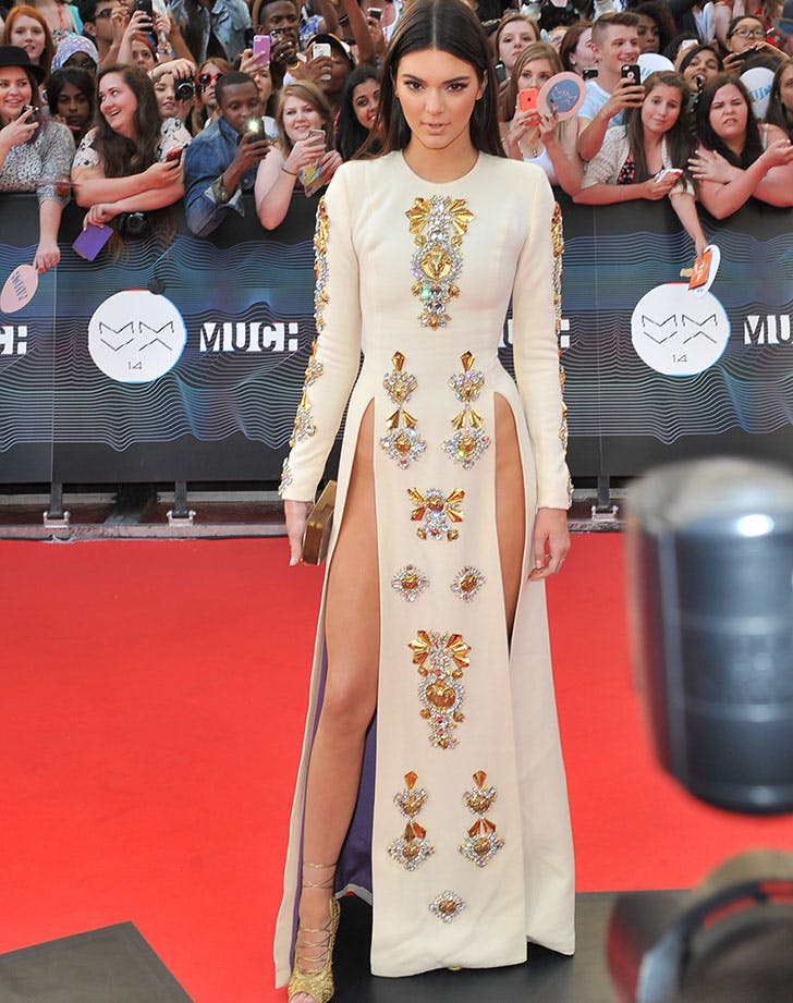Kendall Jenner Slit Dress