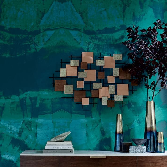 Easy hang mural wall paper trend purewow for Anthropologie mural wallpaper