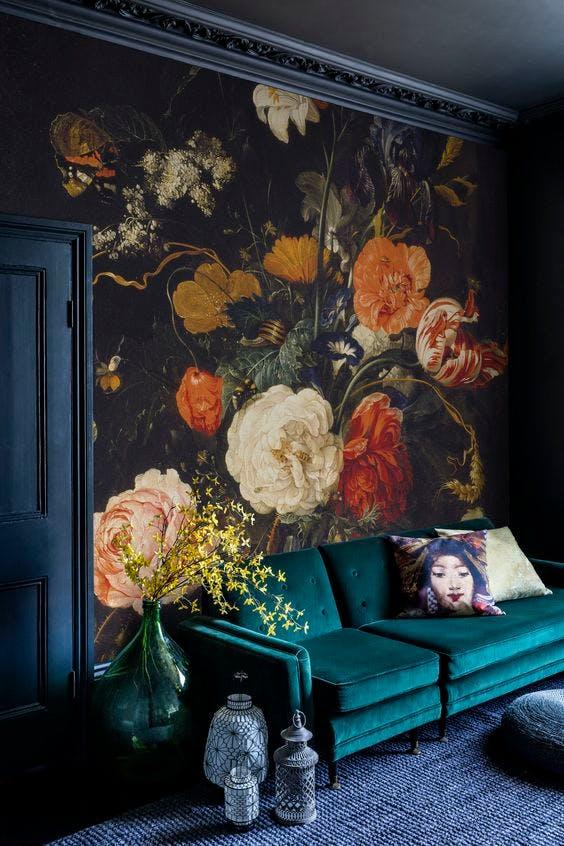 LA wall mural floral list