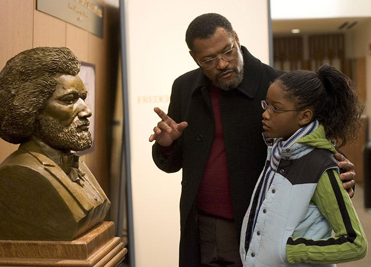 Laurence Fishburne and Keke Palmer in Akeelah and the Bee