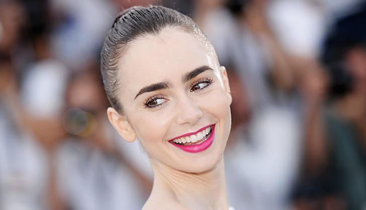 Lily Collins superior brow game
