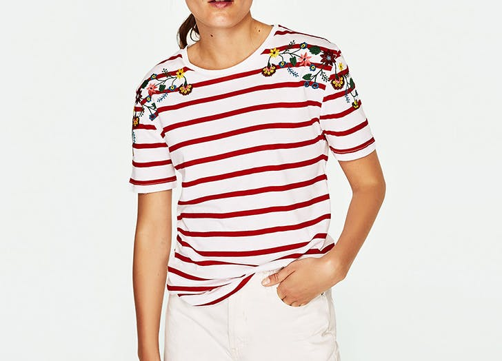 MIA t shirts floral detail LIST