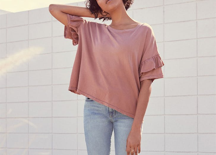 MIA t shirts ruffled sleeve LIST