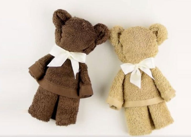 Make Washcloth Teddy