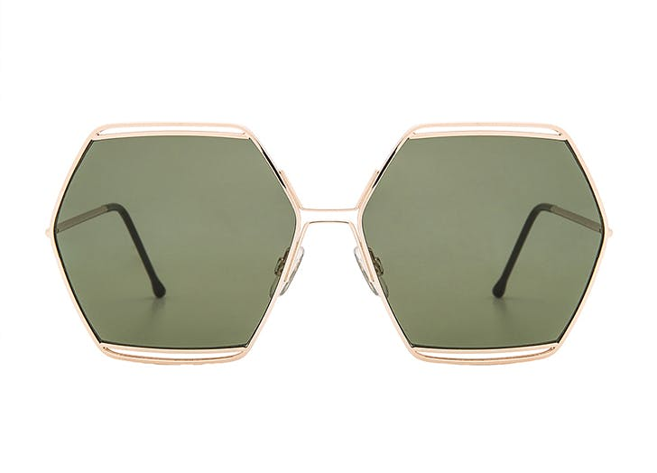 NY sunglasses hexagon LIST
