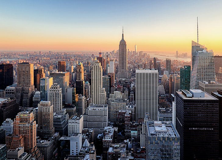 New York City skyline view