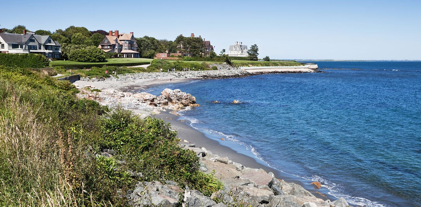 Newport Cliff Walk in Rhode Island