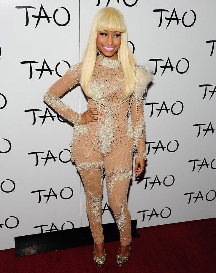 Nicki Minaj Sheer Body Suit