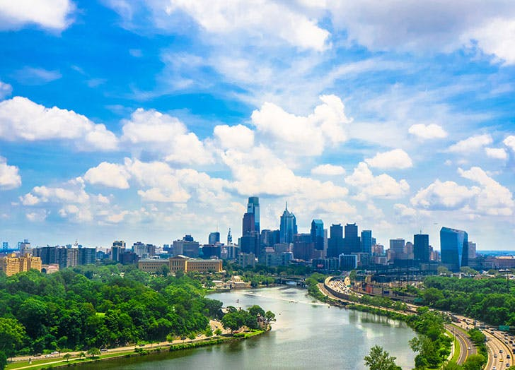 Philadelphia aka The City of Brotherly Love skyline