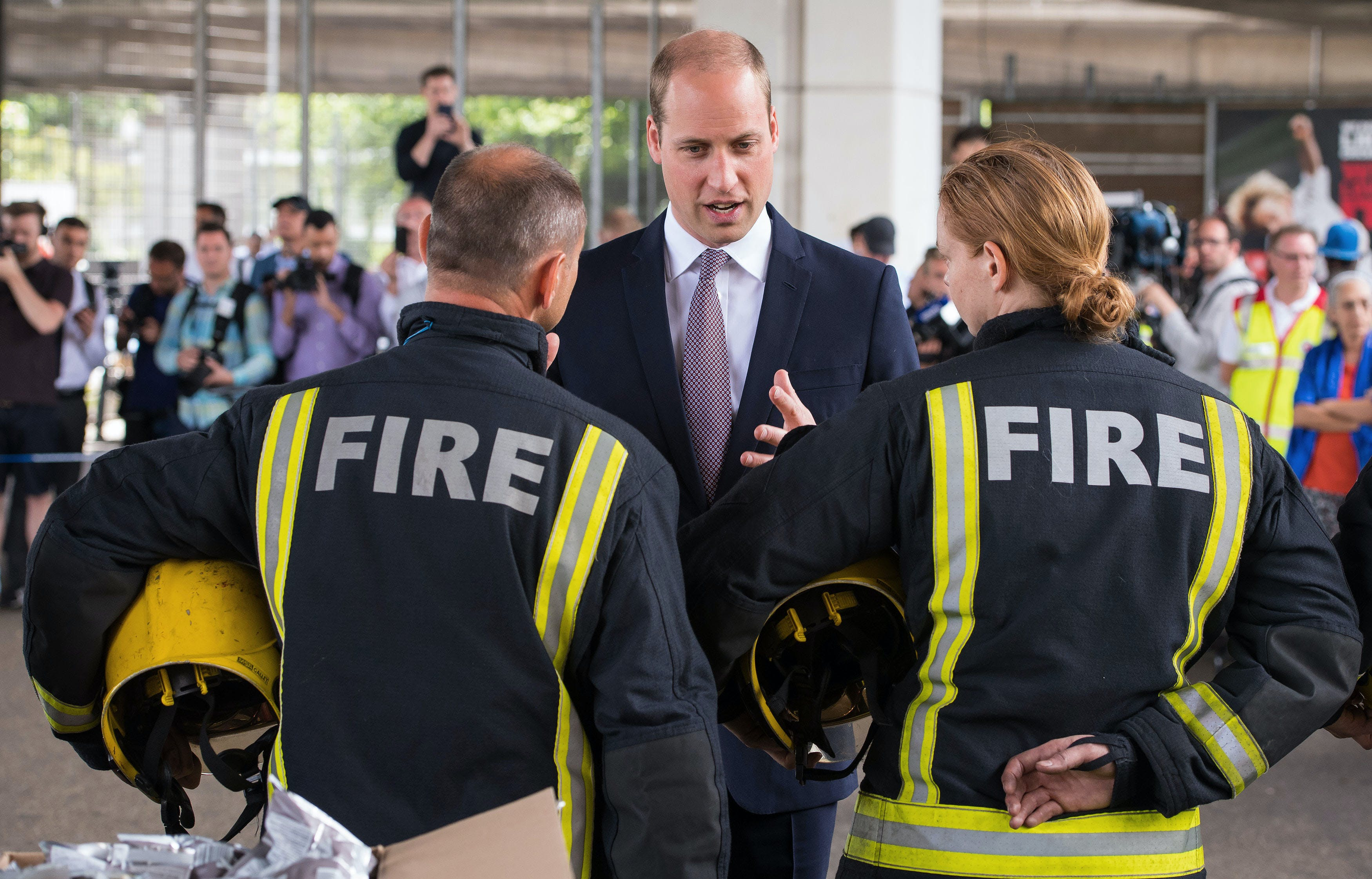 Prince William Broke Royal Protocol to Hug a Victim of the London High-Rise Fire