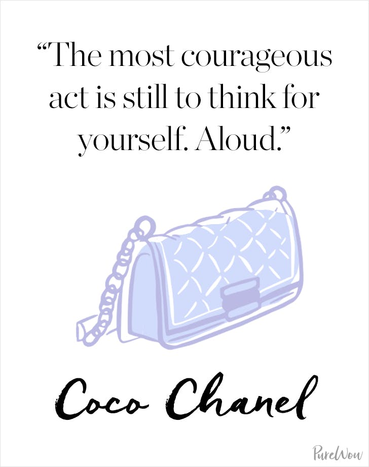 Coco Chanel Quotes 11 Coco Chanel Quotes to Guide You Through Life   PureWow Coco Chanel Quotes