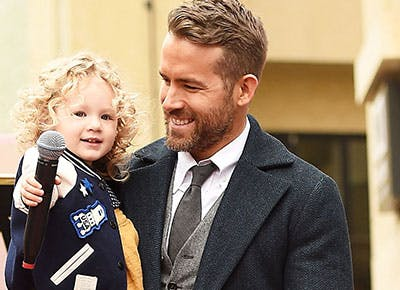 Ryan Reynolds with his daughter 400