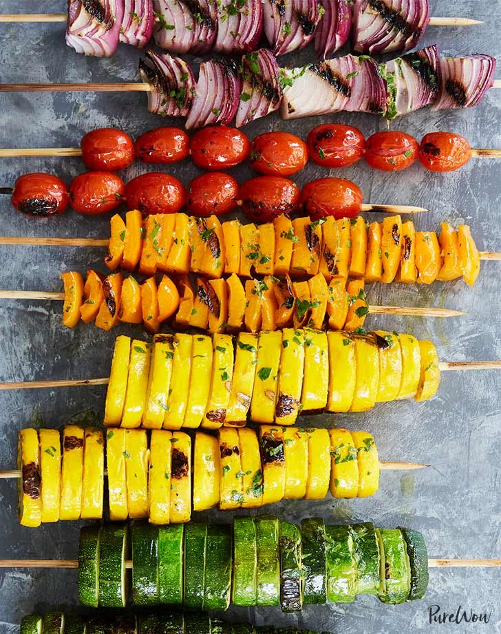 Skewers rainbow vegetables LIST