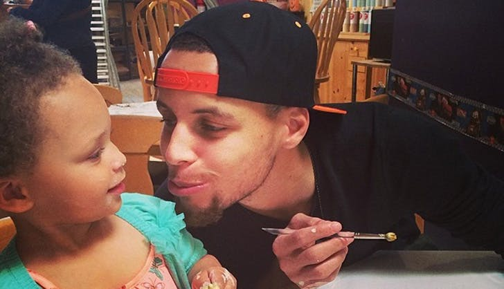 Steph Curry Riley Curry Daddy Daughter