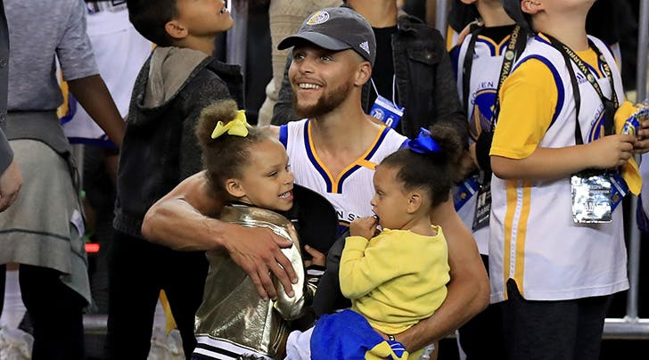 Steph Curry's Daughters Riley & Ryan Were the Real MVPs of the 2017 NBA Finals