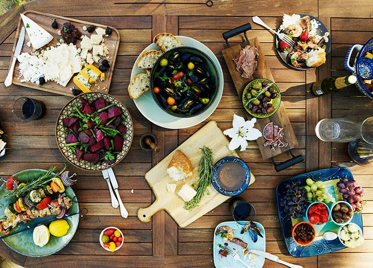 Table filled with summer foods