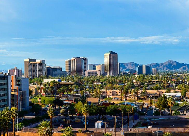 View of downtown Scottsdale  Arizona