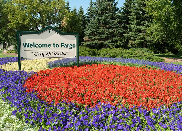 Welcome to Fargo sign