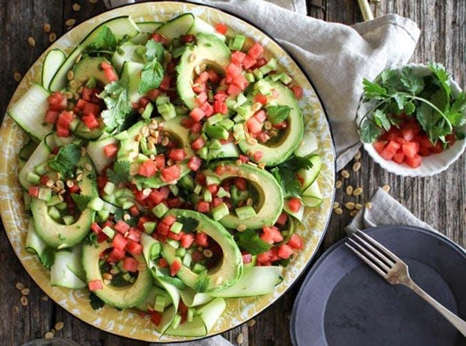 avocado watermellon salad 501