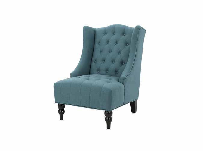 Adriana Tall Wingback Tufted Club Chair