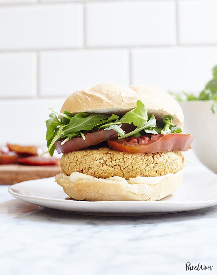 chickpea burger purewow