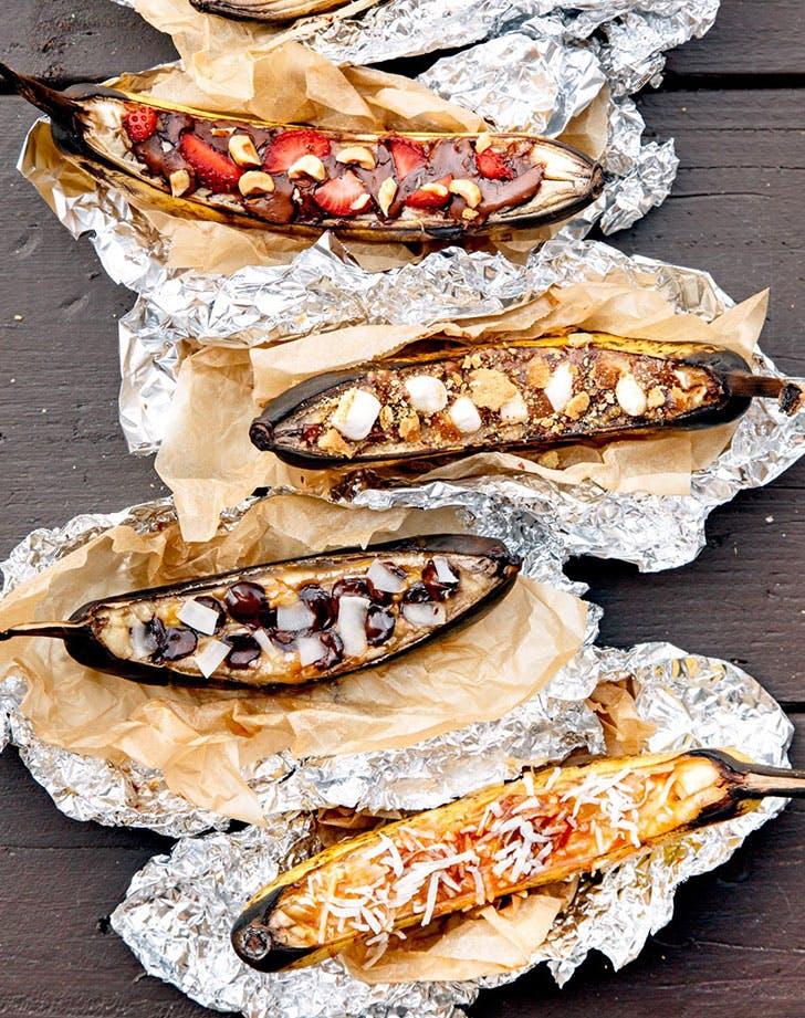 creative campfire banana boats