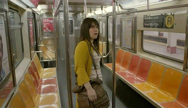 empty subway car broad city NY