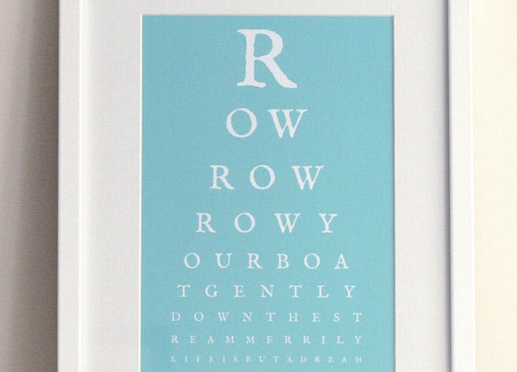 eye chart maker row boat