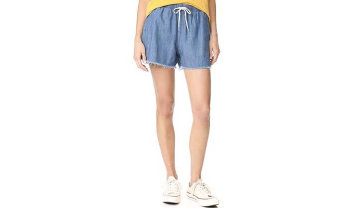 frayed chambray shorts use