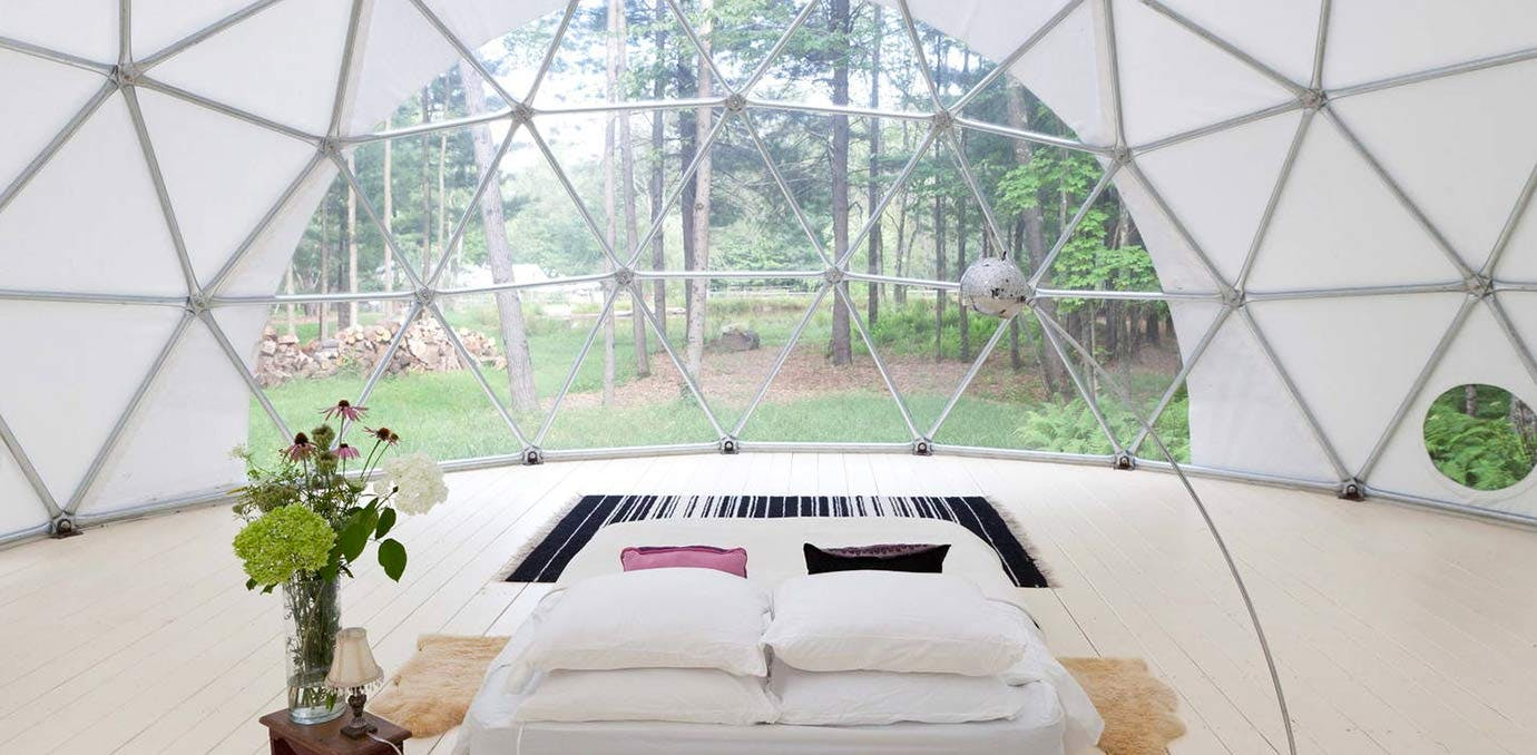 geo dome glamping NY