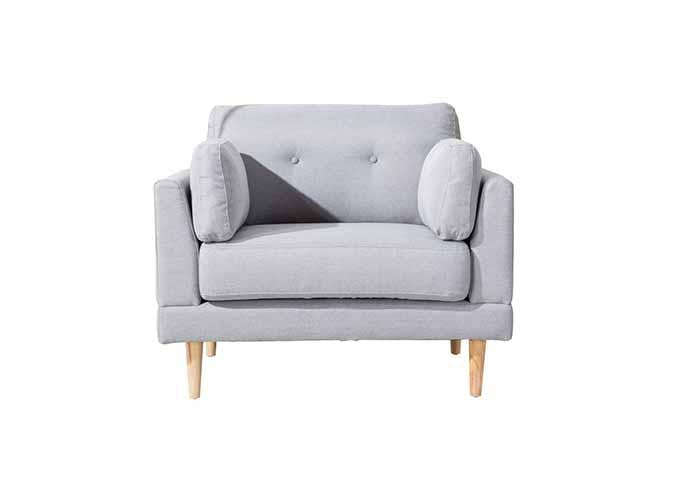 grey cushioned armchair under 300