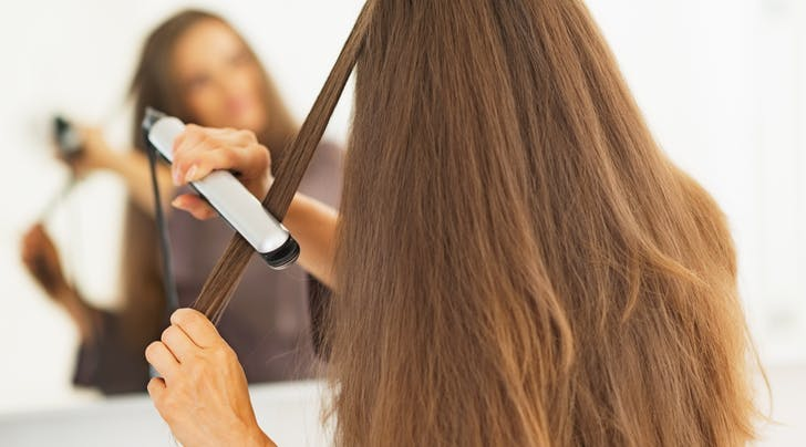 The Absolute Easiest Way to Avoid Hair-Straightener Dents