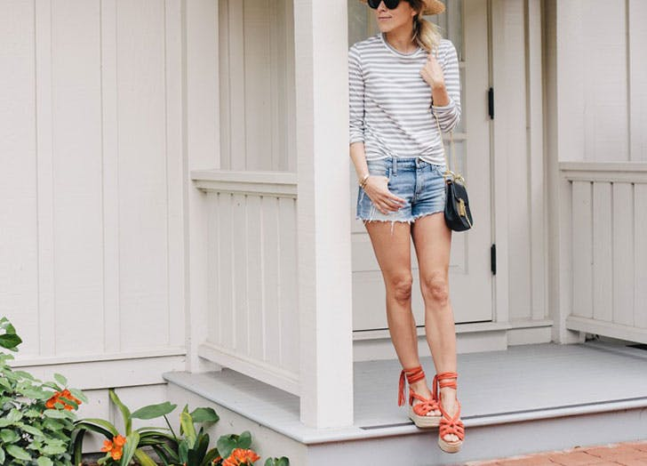 how to wear jean shorts espadrilles