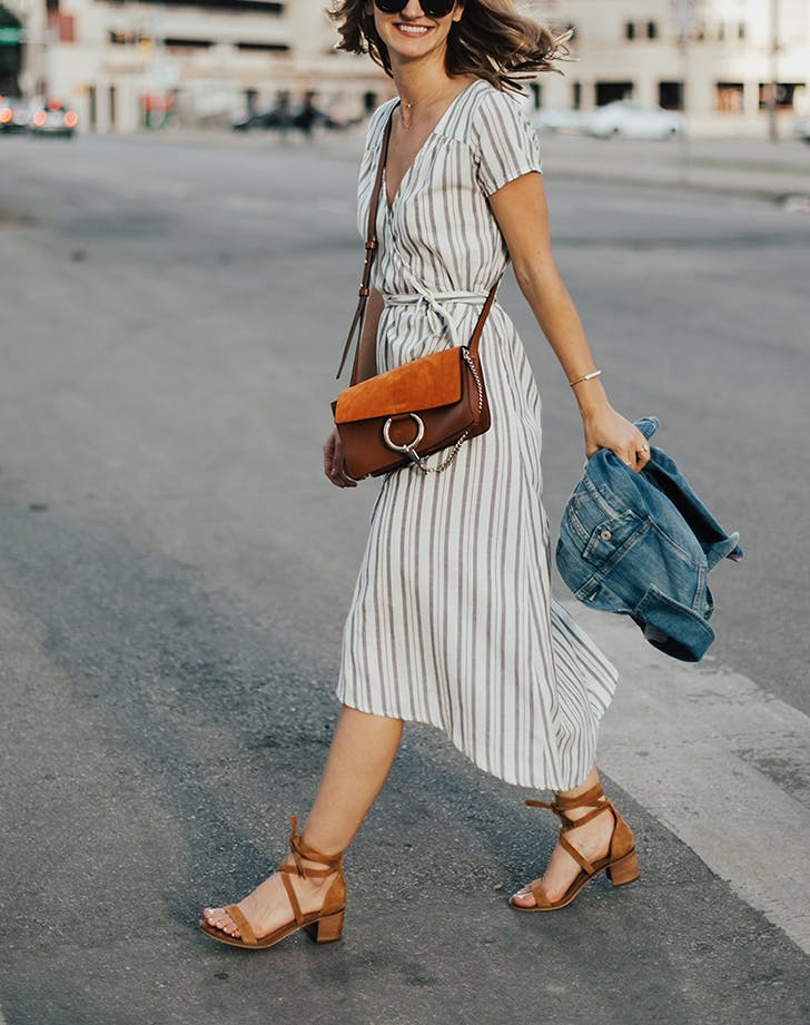 how to wear wrap dresses 2