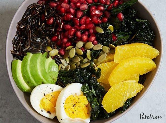 kale avocado buddha bowl purewow