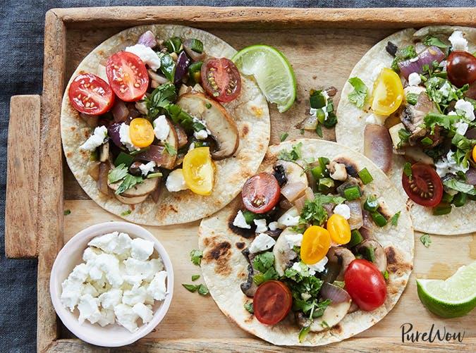 mushroom poblano tacos purewow