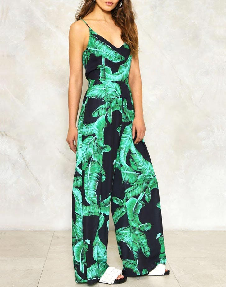 nasty gal jumpsuit tropical prints NY