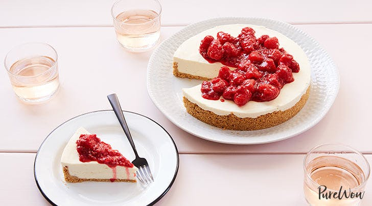 No-Bake Cheesecake with Raspberry Compote