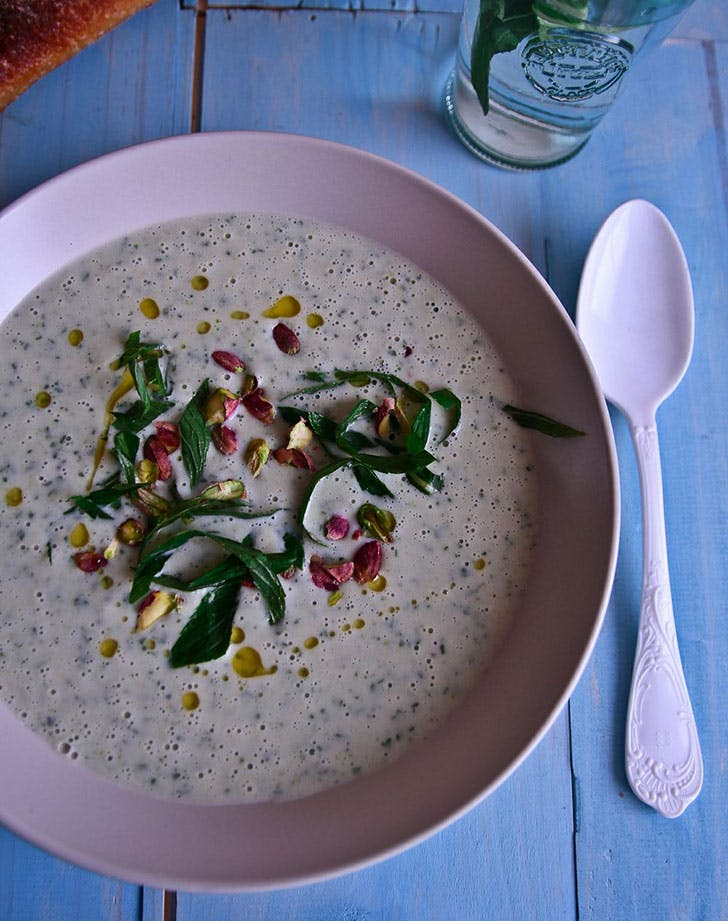 no cook summer dinners chillled white bean soup