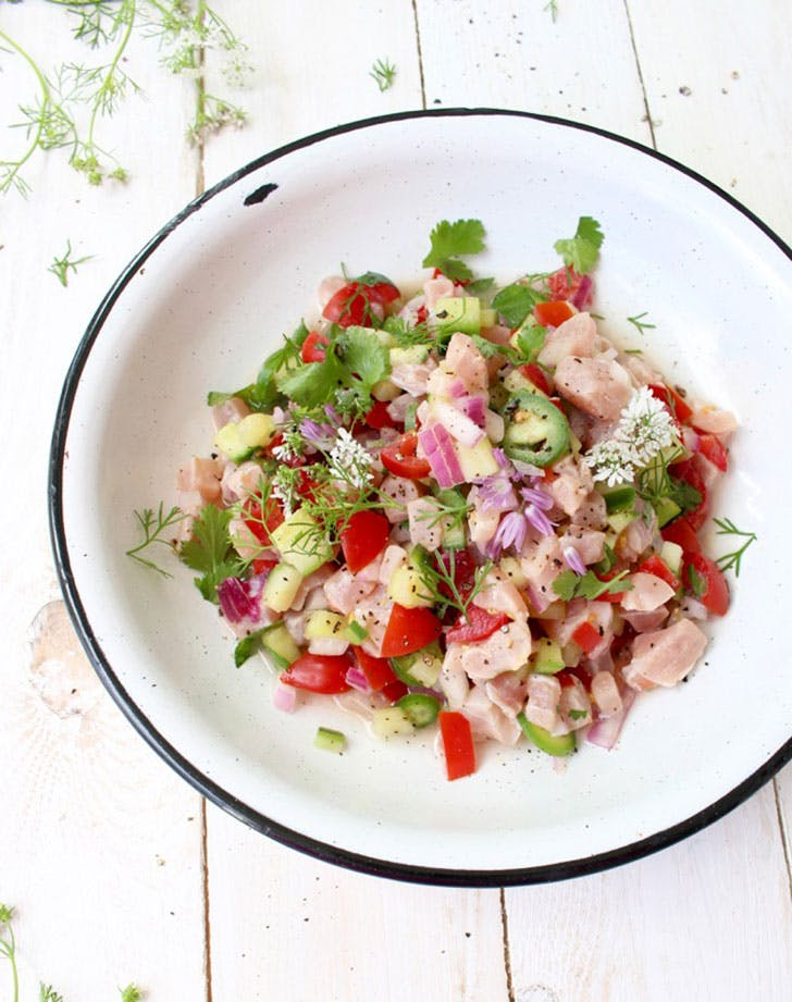 no cook summer dinners mexican ceviche