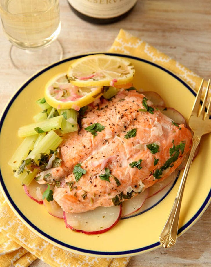 no cook summer dinners microwave salmon