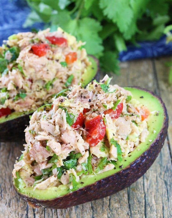 no cook summer dinners stuffed avocado